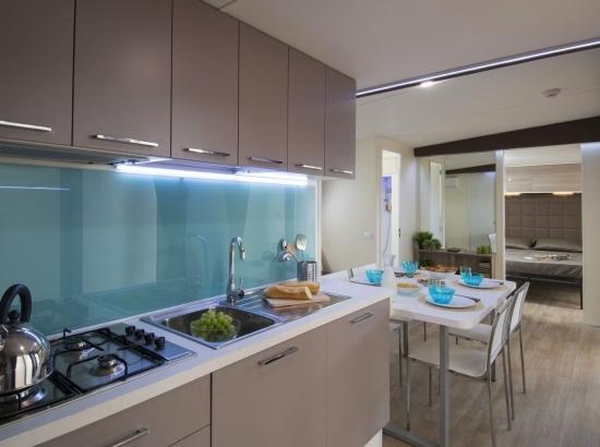 La cuisine de la suite jardin Bungalow
